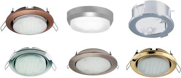 Фото: встраиваемые светильники
