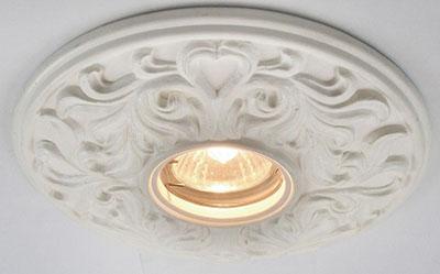 встраиваемый светильник - потолок - классический стиль